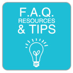 Tips, FAQ and resources button for job seekers